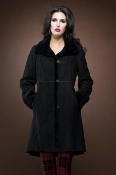 ML Furs | Spanish Noir mid-length shearling coat | http://www.mlfurs.com/shearlings/spanish-noir-reversible-mid-length-shearling-coat