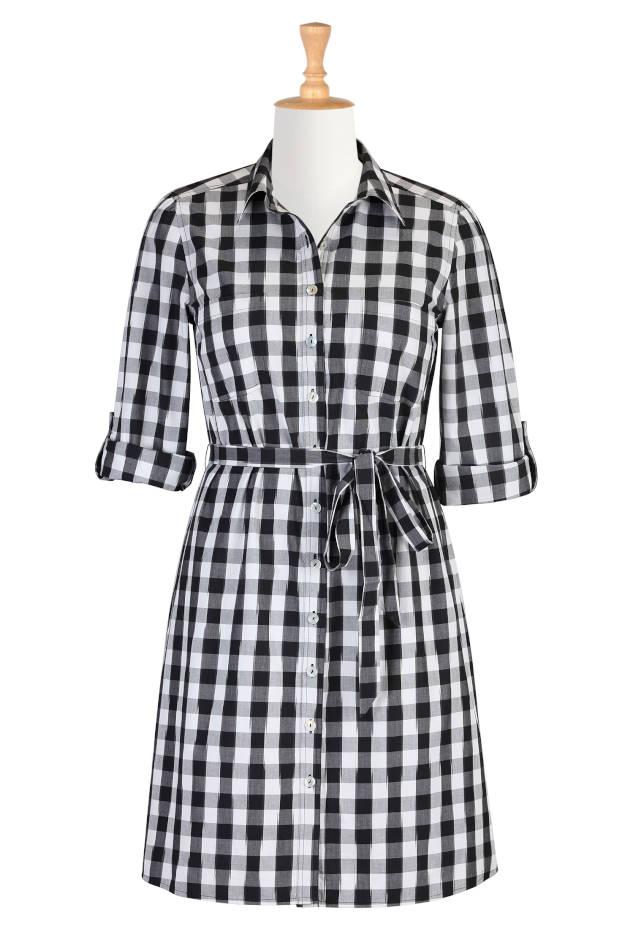 Spring 2015 trend gingham dress