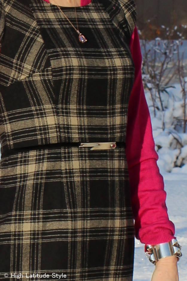 #accessories brooch worn as belt