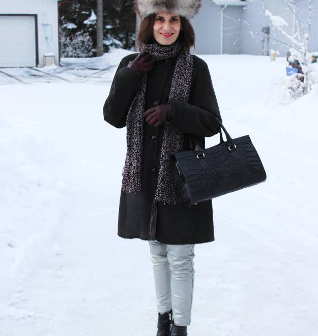 #over40 outerwear with DIY scarf | High Latitude Style | http://www.highlatitudestyle.com