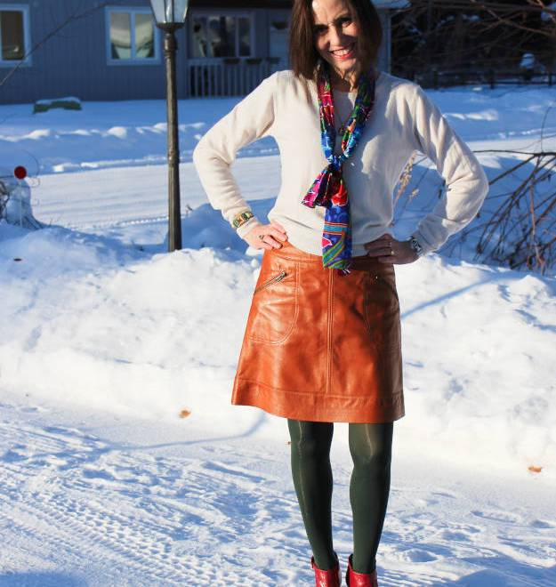 #over40 #over50 casual work outfit with oblong scarf | High Latitude Style | http://www.highlatitudestyle.com