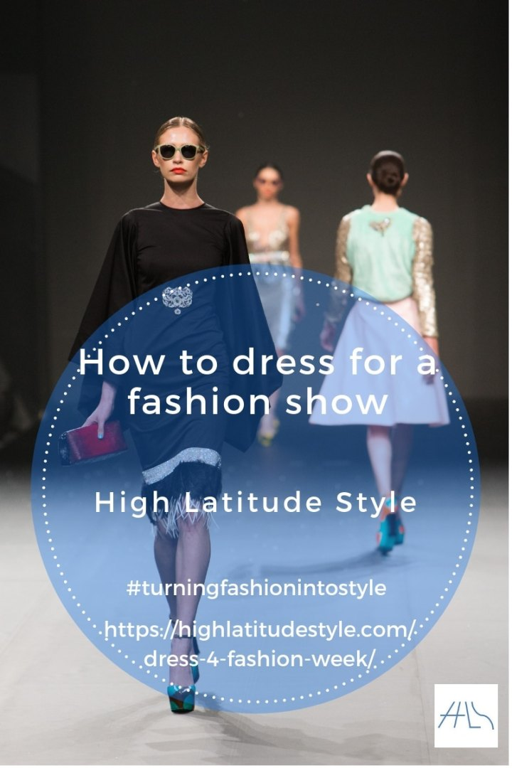 what to wear to a fashion show post banner