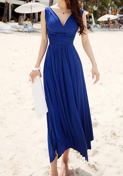 mature beach wedding guest gown