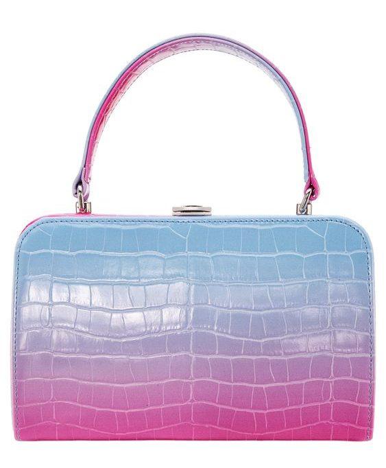 ombre top handle bag