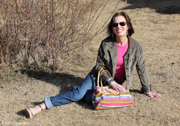#fashionover50 woman in BBQ outfit
