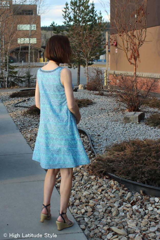 HSN #fashionover40 Sigrid Olsen designer dress back view
