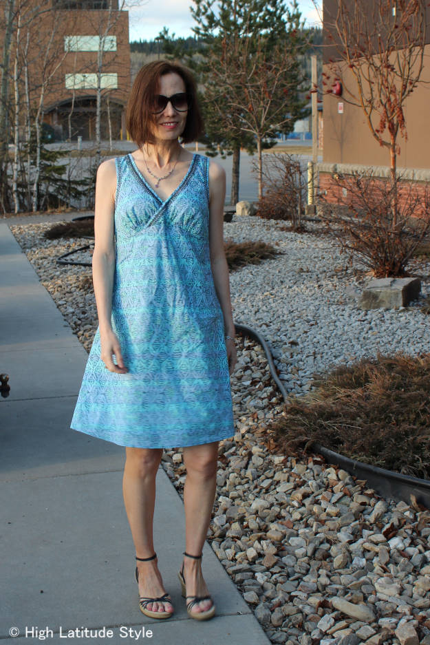 #advancedfashion  HSN review Sigrid Olsen designer shift dress for women over 40