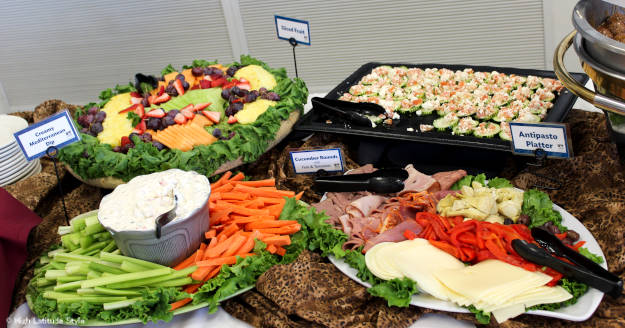 #food buffet at authors' reception