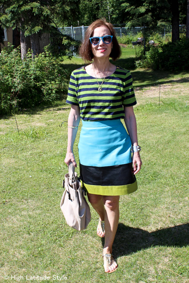 #fashionover40 double striped weekend outfit |High Latitude Style | http://www.highlatitudestyle.com