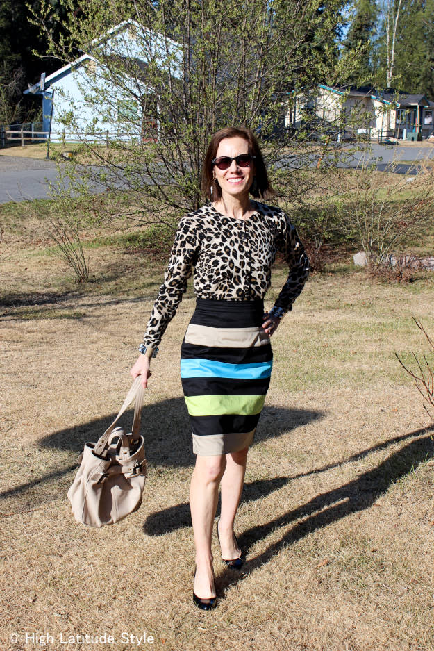 fashionover40 woman in work outfit