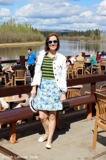 #over40 #over50 outfit for going to a sports event | High Latitude Style | http://www.highlatitudestyle.com