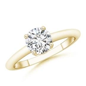#Angara Princess cut solitaire diamond ring