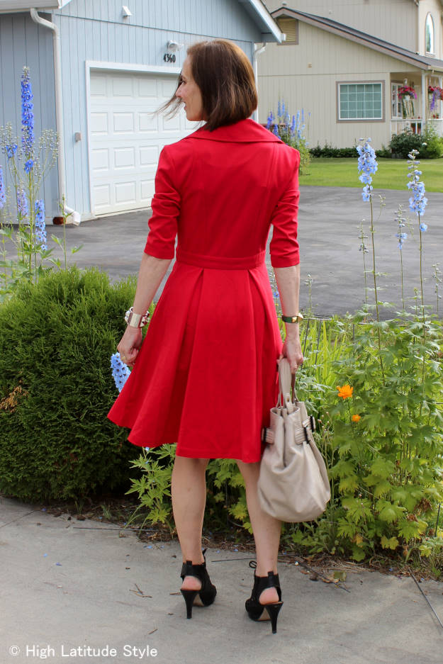 fashion over 40 red dress