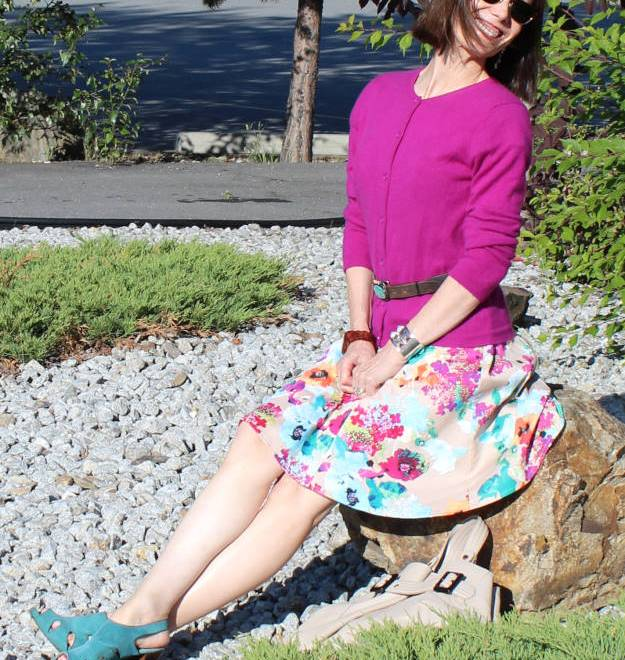 #fashionover40 #fashionover50 Best outfits of August - recap: maximizing the wardrobe by wearing a dress as skirt @ High Latitudestyle @ http://www.highlatitudestyle.com