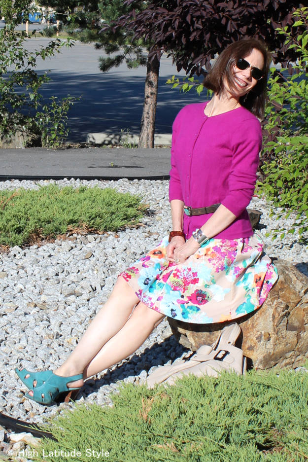 #maturestyle maximizing the wardrobe by wearing a dress as skirt
