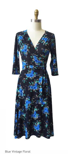 wrap dress as update for autumn wardrobe