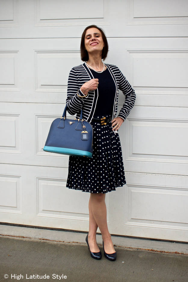 #fashionover50 posh chic fall outfit with summer pieces