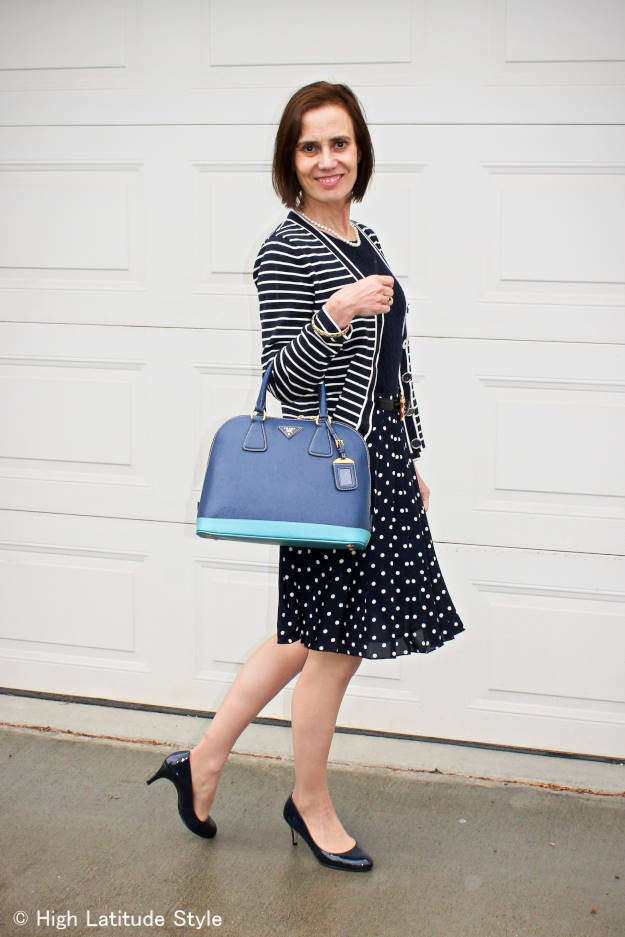 #fashionover40 #fashionover50 fall outfit with summer skirt