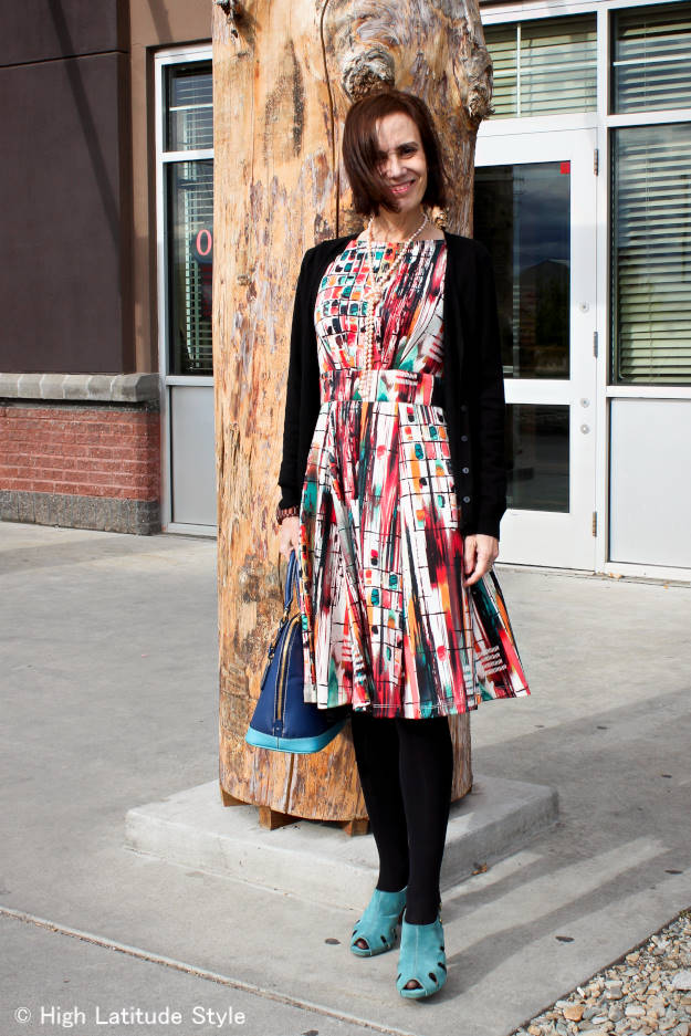 Styling a Summer Dress for Fall