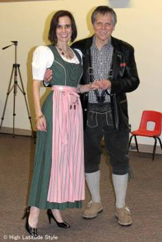#fashionover40 #fashionover50 couple in Alpine tracht at Fairbanks International Friendship Day @ High Latitude Style @ http://www.highlatitudestyle.com