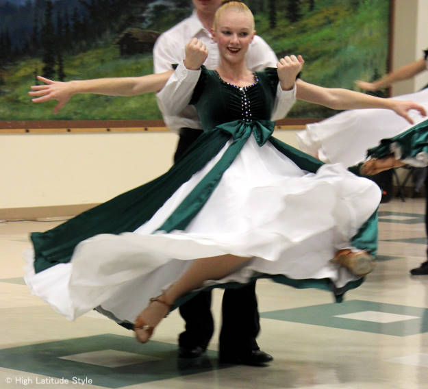 #fashionover40 #fashionover50 dance outfits at Fairbanks International Friendship Day @ High Latitude Style @ http://www.highlatitudestyle.com