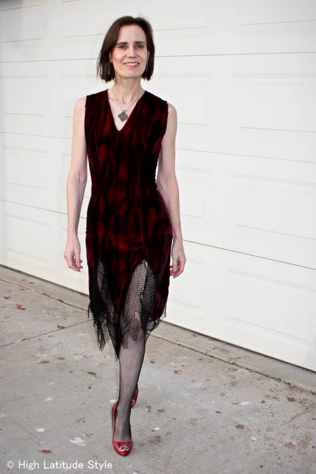 #Halloween mature woman in vampire costume