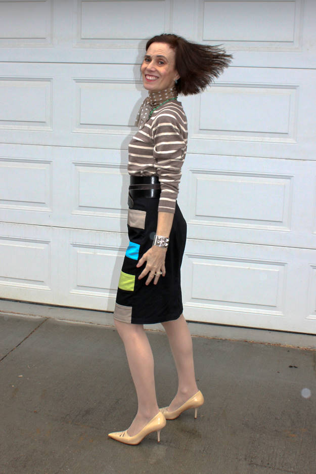 #fashionover40 #fashionover50 work outfit for a rainy fall day at the weekly Top of the World Style fashion #linkup party @ High Latitude Style @ http://www.highlatitudestyle.com
