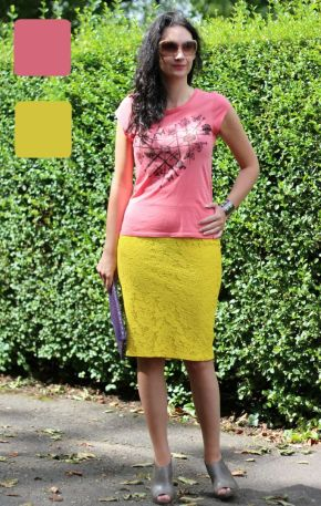 Example 4 of outfit in analogous colors - Guest post by Lorna Mai