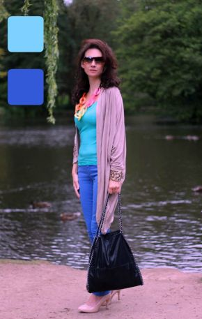 Example of outfit in analogous colors