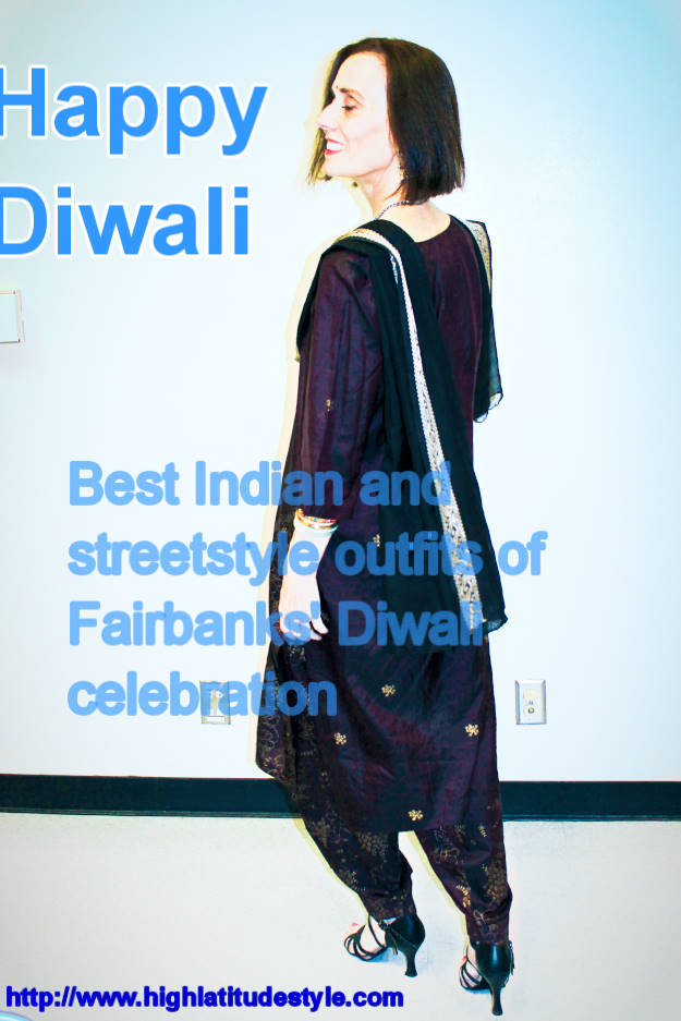 #fashionover40 #fashionover50 Best outfits of the Diwali celebration in Fairbanks @ High Latitude Style @ http://www.highlatitudestyle.com
