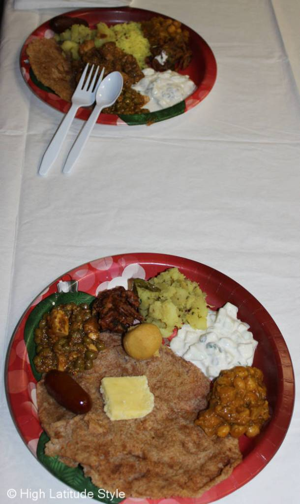 food samples at the Diwali celebration in Fairbanks