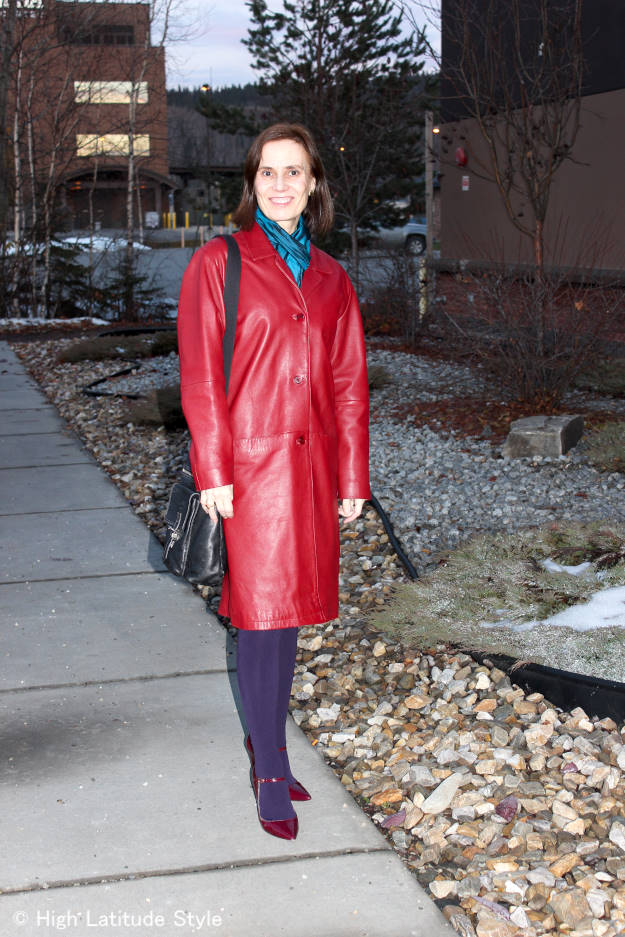 High Latitude Style donning an outerwear outfit in the snow