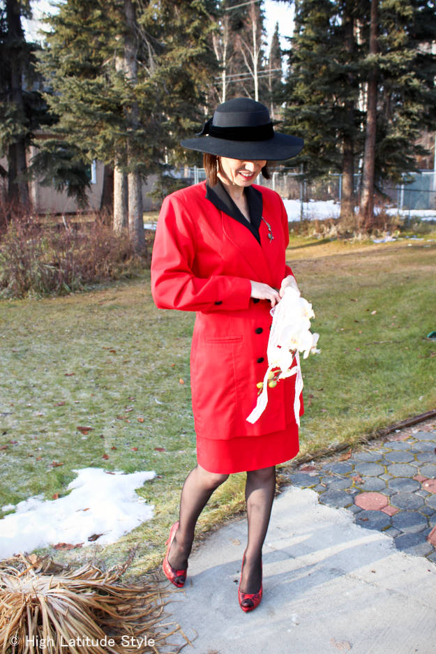 #wea#fashionover40 #fashionover50 The wearing my wedding dress challenge @ High Latitude Style @ http://www.highlatitudestyle.com