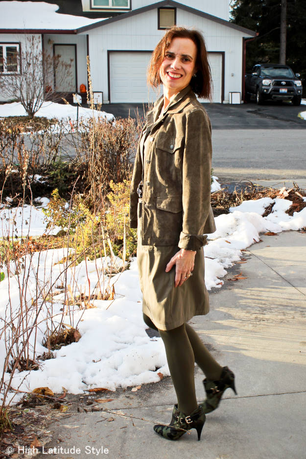 monochromatic outfit in midlife