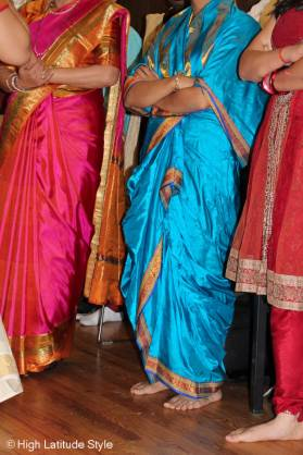 local young women in sarees