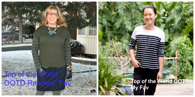 #fashionover40 Top of the World Style fashion linkup party title winners @ High Latitude Style @ http://www.highlatitudestyle.com
