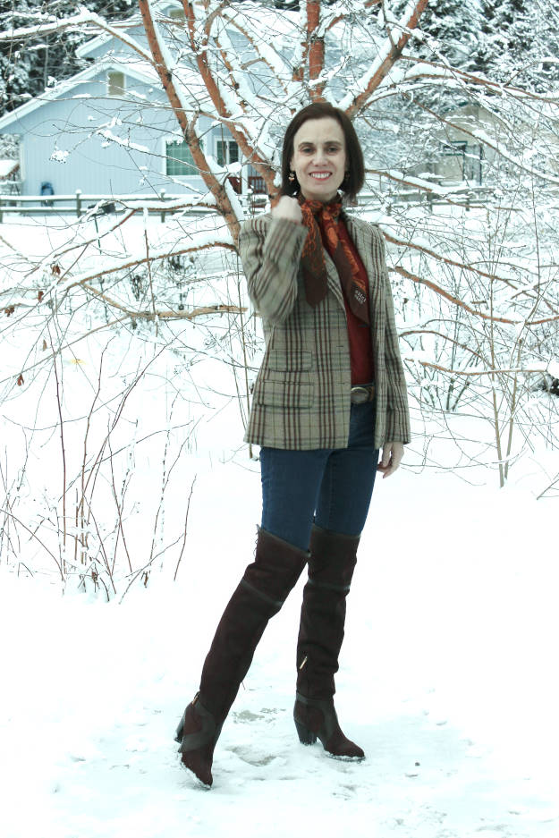 #fashionover50 OOTM over-the-knee boots over 40