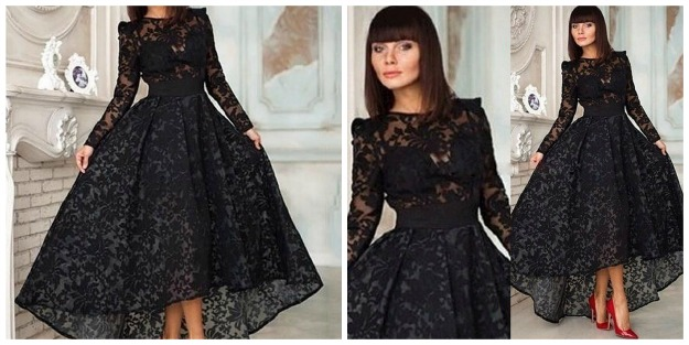 #styleover40 BeFormal.com.au sultry sweetheart cleavage long sleeve formal evening gown