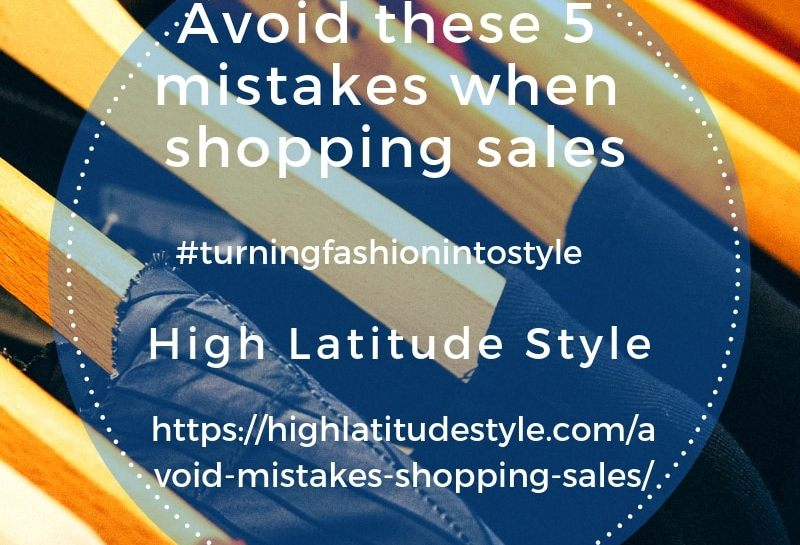 Avoid these 5 mistakes when shopping the sales post banner with sales signs and clothes rack