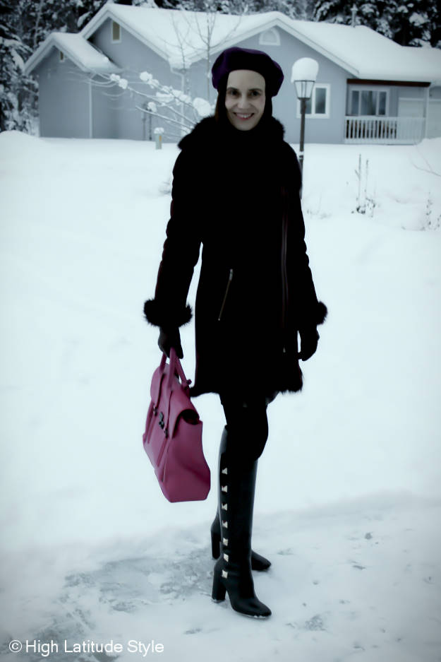 #midlifefashion Winter outfit in Alaska