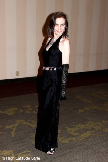 #maturefashion black velvet ball gown @ High Latitude Style @ http://www.highlatitudestyle.com