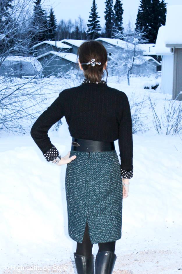 #fashionover50 barrette and belt details