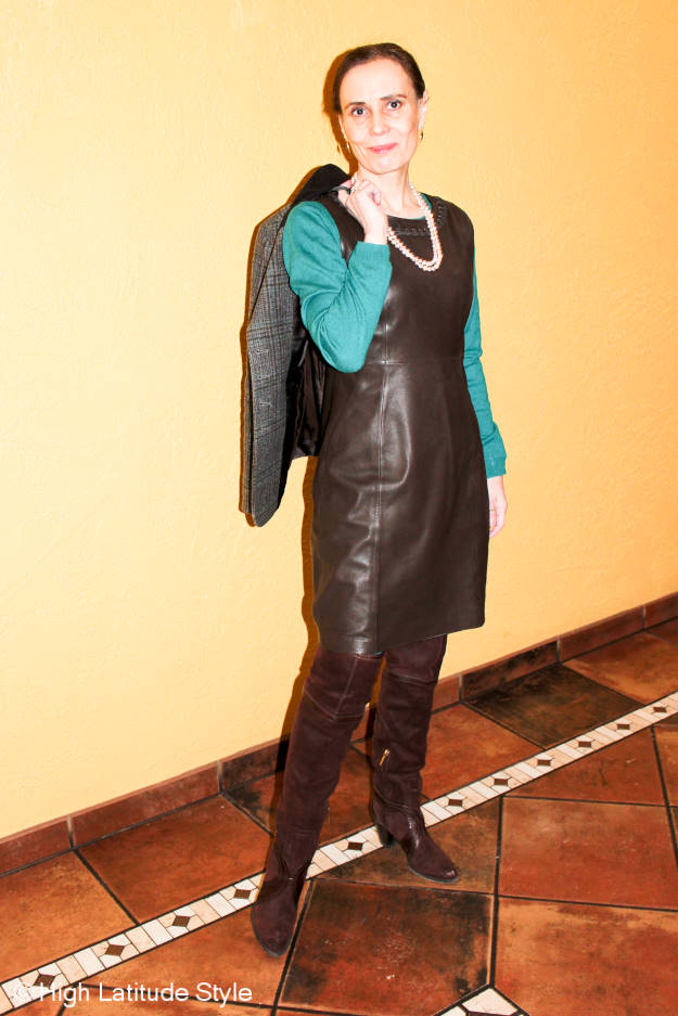 #fashionover40 winter work outfit plus a giveaway @ High Latitude Style