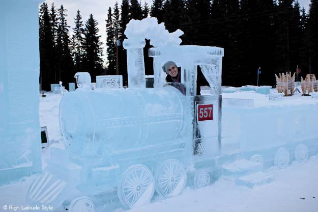 travel on the ice train thru Alaska