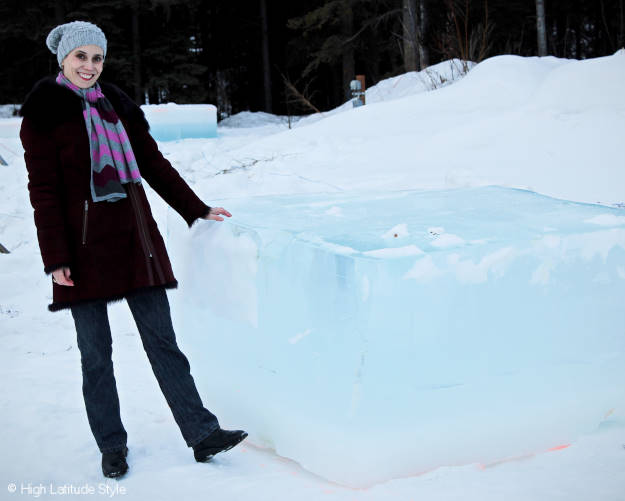 ice sculpture raw material - a giant ice cube more