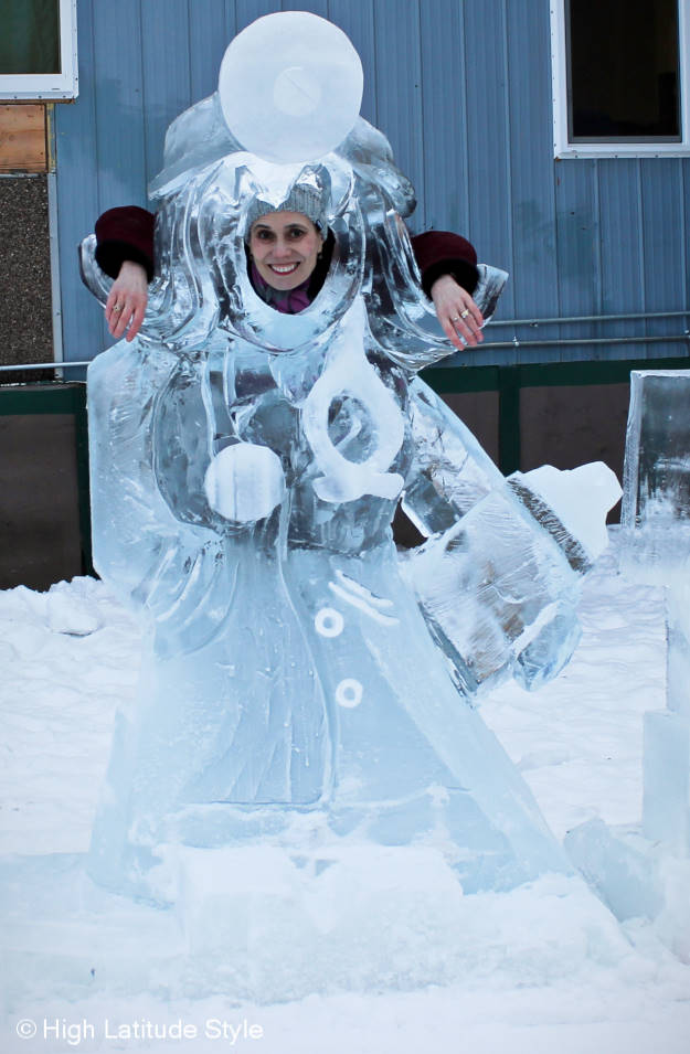 #travel fashion ice sculpture at the Fairbanks Alaska World Ice Sculpture Championship