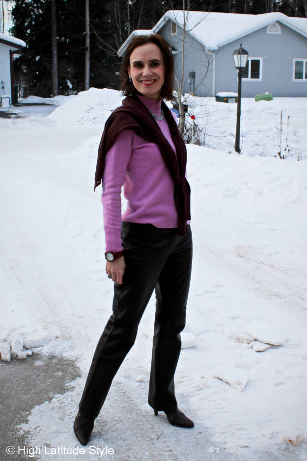 outfit in spring fashionable colors