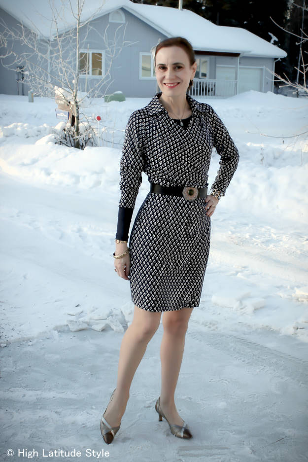 #styleover40 wrap dress for the office @ High Latitude Style