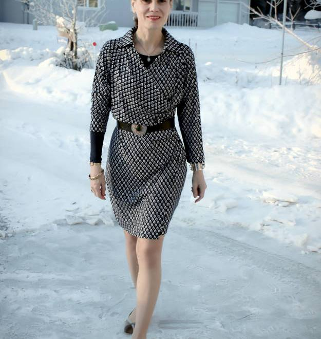 #fashionover40 summer wrap dress styled for a spring office look @ High Latitude Style