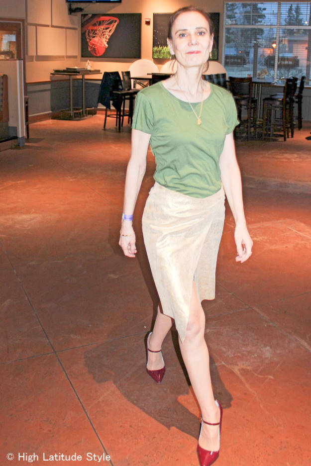 #fashionover40 dance outfit in the With the Band trend